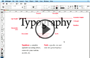 Click to launch the InDesign Typography video trailer
