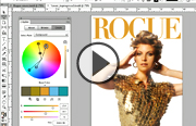 Click to launch the Designing a Magazine Cover video trailer