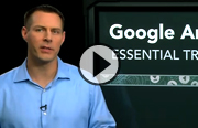 Click to launch the Google Analytics Essential Training video trailer