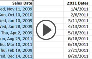 Click to launch the Excel 2010: Working with Dates and Times video trailer