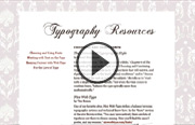 Click to view the Typography for Web Designers course page