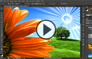 Click to launch Photoshop CS6 One-on-One: Fundamentals video trailer